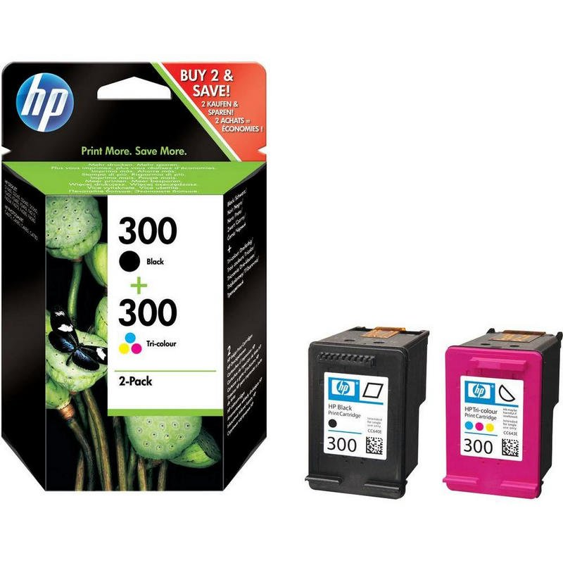 HP Nº300 Original Pack Negro + Tricolor |PcComponentes