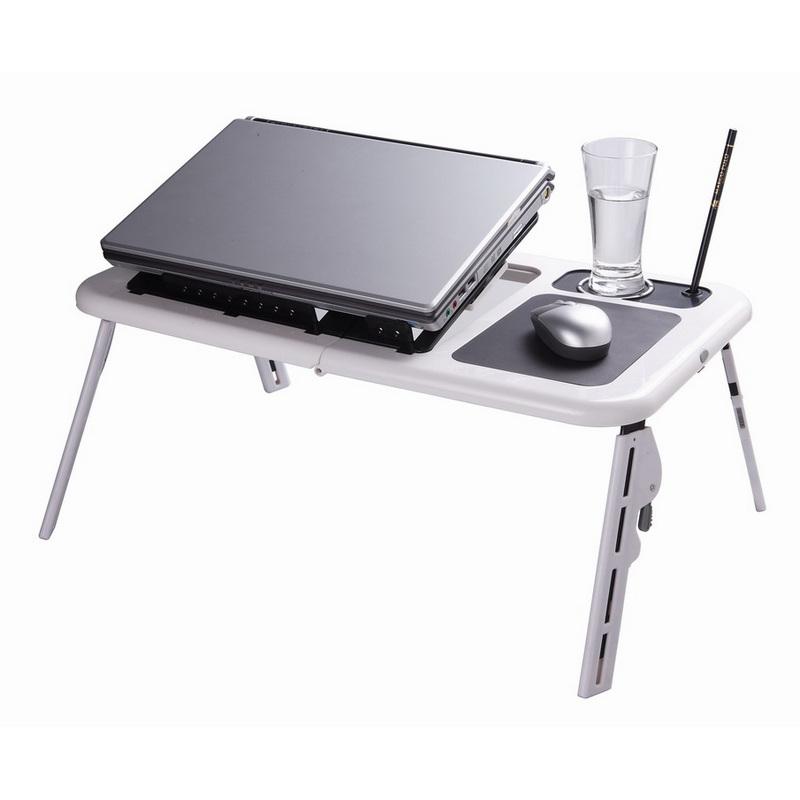 Omega mesa para port til blanco pccomponentes - Mesas para ordenadores portatiles ...