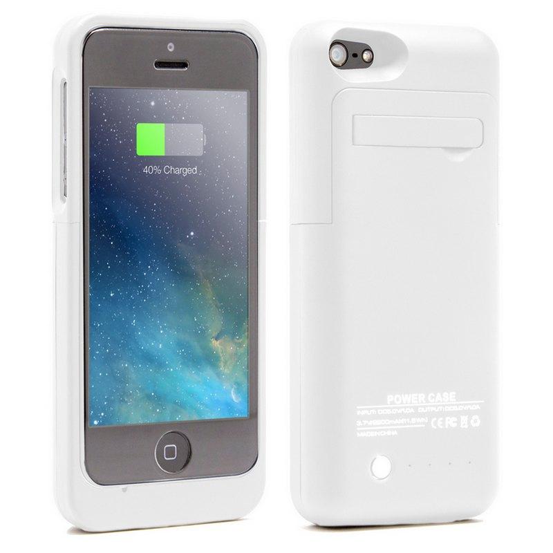 Funda bater a blanca para iphone 5 5s 5c se pccomponentes for Funda bateria iphone