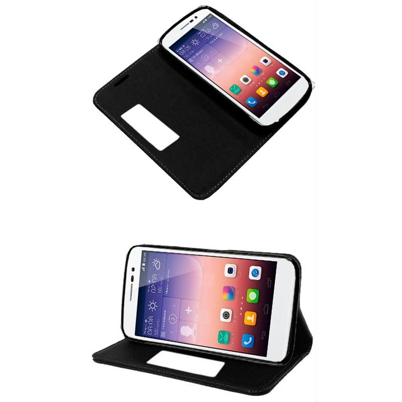 4176b8bca3f Funda Flip Cover Negra para Huawei Ascend P7  PcComponentes