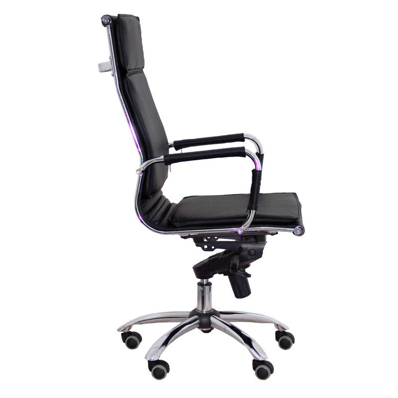 Silla oficina yeste negra pccomponentes for Sillas de oficina altas