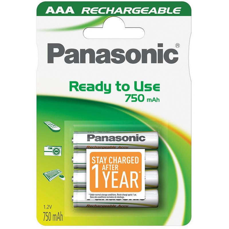 Panasonic pack 4 pilas recargables 750mah aaa - Pilas recargables aaa ...
