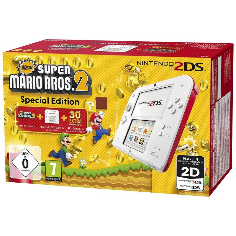 Nintendo 2DS Roja/Blanca + Nuevo Super