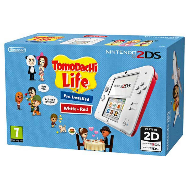 Nintendo 2ds Roja Blanca Tomodachi Life