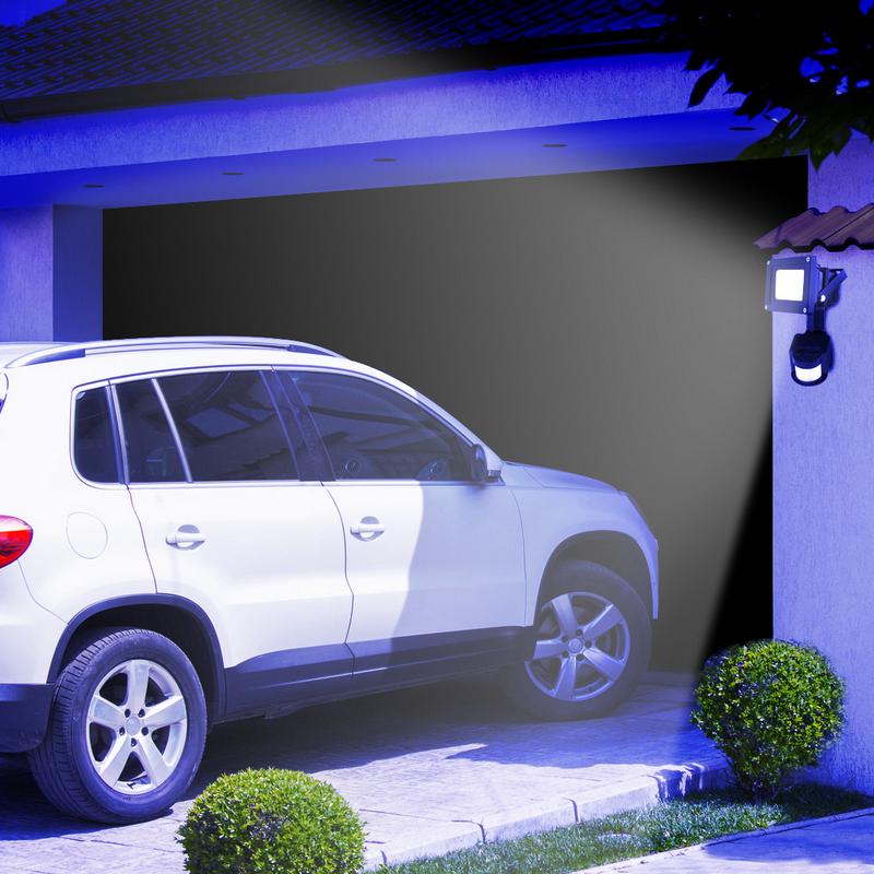 Foco led con sensor de movimiento de 10w pccomponentes - Foco con sensor de movimiento ...