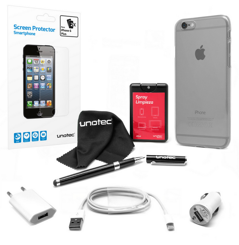 bcc466f6fff Unotec Pack Esencial para iPhone 6 Plus |PcComponentes