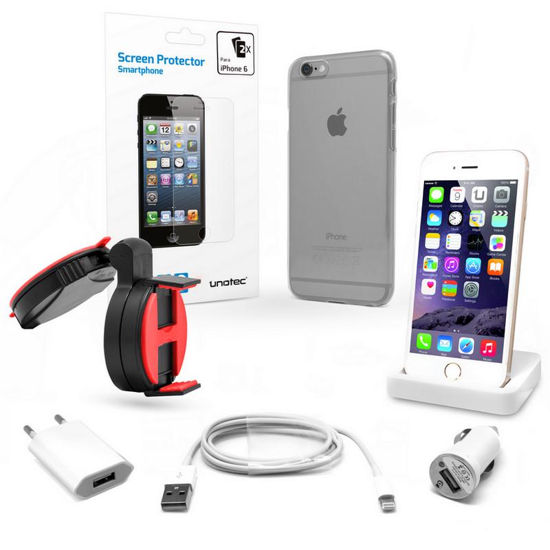 000a221fa01 Unotec Pack Esencial para iPhone 6 |PcComponentes
