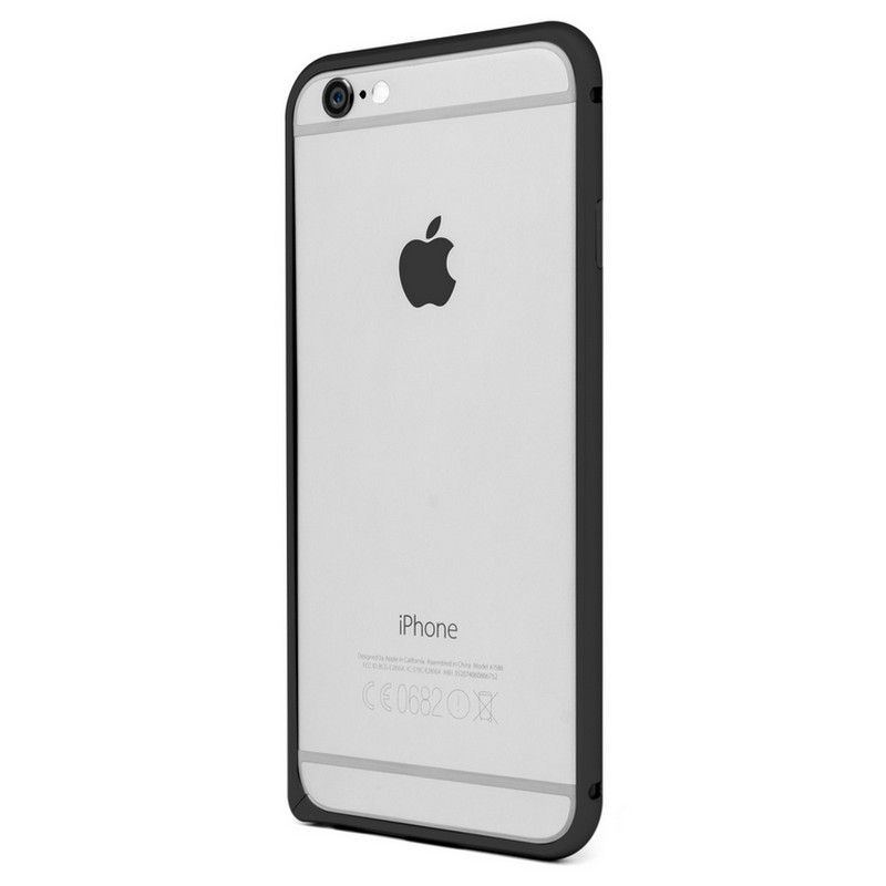 bumper pro aluminio negro para iphone 6 plus pccomponentes. Black Bedroom Furniture Sets. Home Design Ideas
