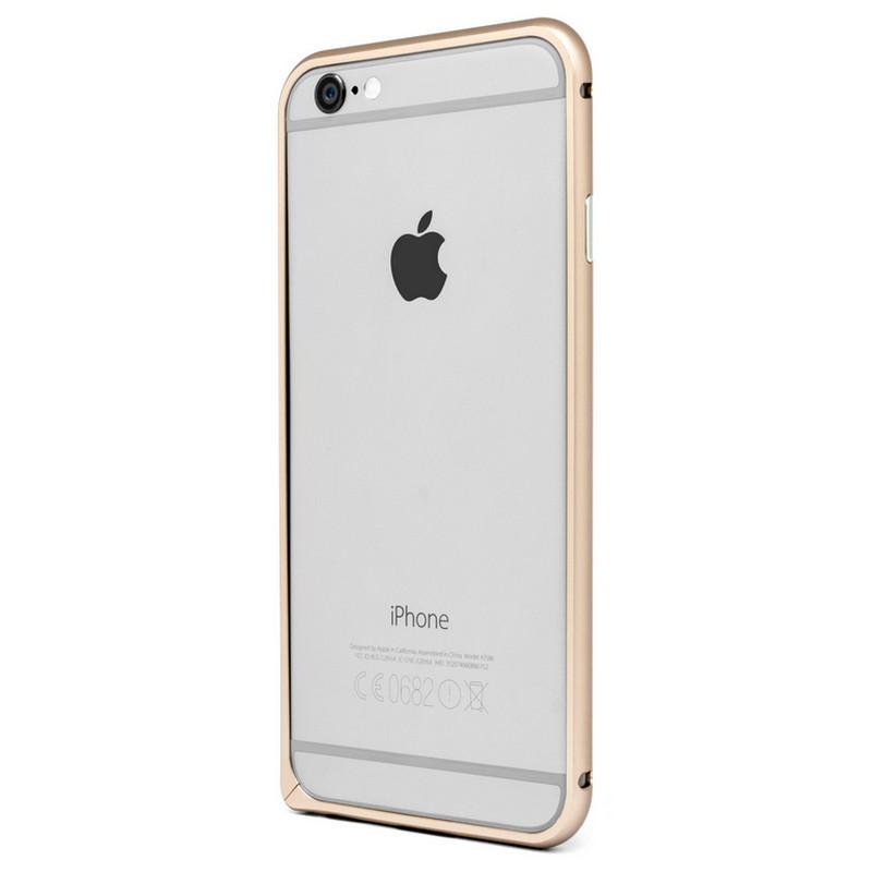bumper pro aluminio dorado para iphone 6 pccomponentes. Black Bedroom Furniture Sets. Home Design Ideas