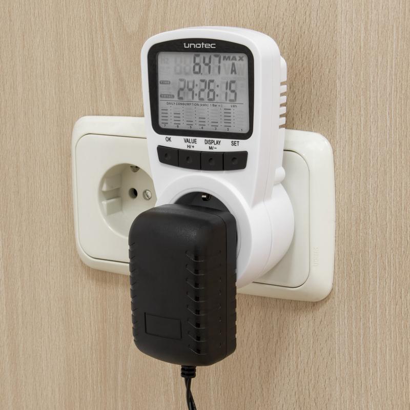 unotec ecoplug ii medidor de consumo el ctrico pccomponentes
