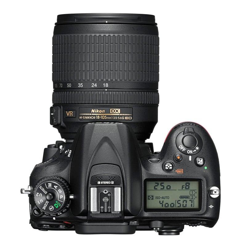 Nikon D7200 24.2MP + 18-105 VR Wi-Fi Negra |PcComponentes