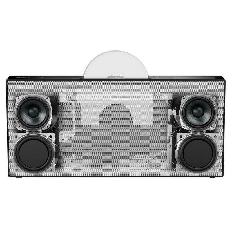 sony cmt x3cd sistema hi fi con bluetooth negro pccomponentes. Black Bedroom Furniture Sets. Home Design Ideas