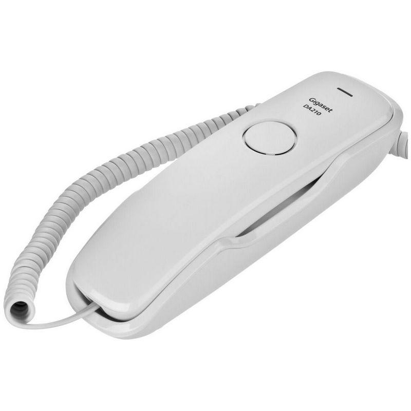 Siemens gigaset da210 tel fono fijo compacto blanco for De donde es el telefono