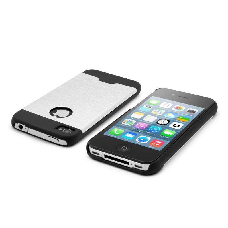 9a11f333ffb Unotec Funda Metal Gris para iPhone 4/4S  PcComponentes