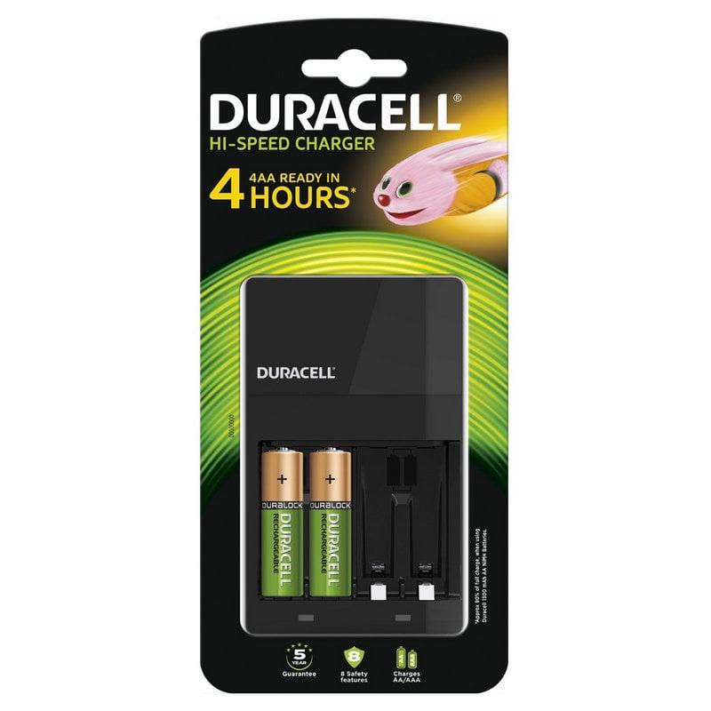 Duracell cef14 cargador 4 pilas 2 pilas aa 1300mah - Cargador pilas recargables ...