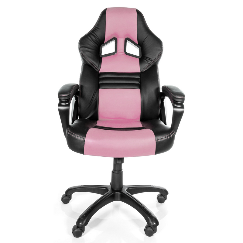 Arozzi monza silla gaming rosa negra pccomponentes for Silla gamer precio