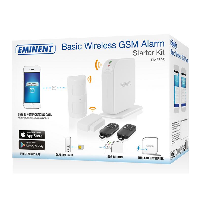 ee30e1e71 Eminent Kit Iniciación Básico de Alarma GSM Inalámbrica |PcComponentes