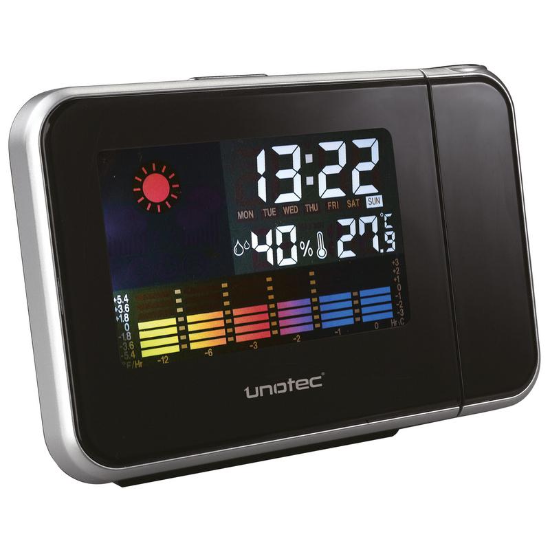 Unotec estaci n meteorol gica con reloj proyector - Estacion meteorologica precio ...