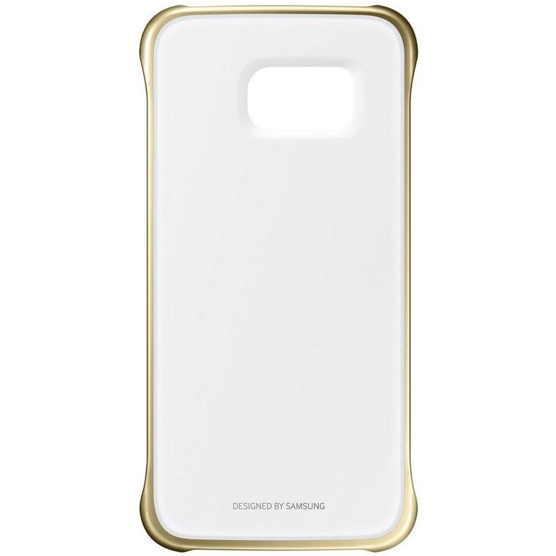 carcasa clear cover samsung para galaxy s7 edge dorado