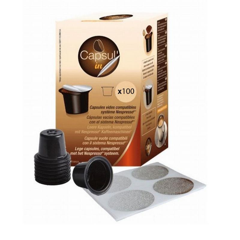 pack 100 c psulas recargables cafeteras nespresso pccomponentes. Black Bedroom Furniture Sets. Home Design Ideas