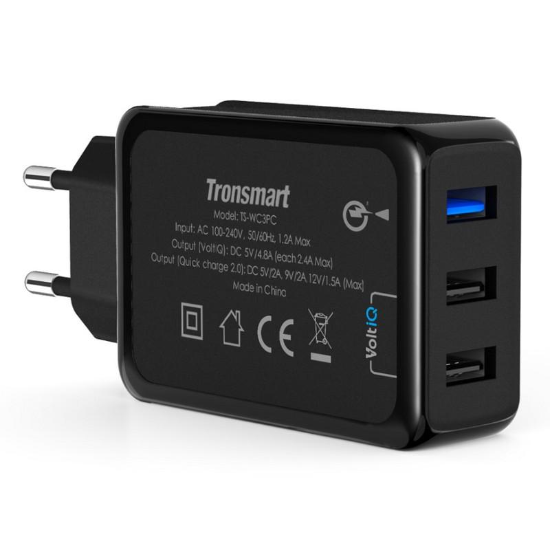 a9f3a3c8b13 Tronsmart TS-WC3PC Quick Charge 2.0 Cargador de pared 3 USB ...
