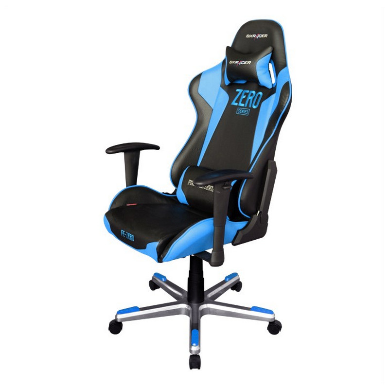 Dxracer f series oh fe00 nb zero silla gaming negro azul for Sillas para hoverboard