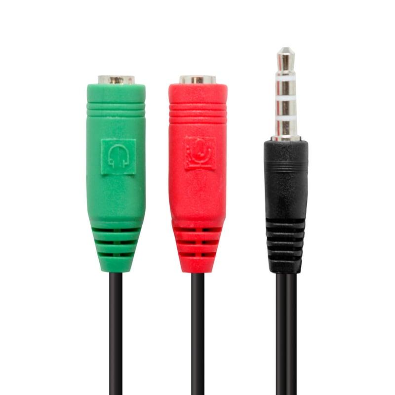 1f5c6926777 Adaptador Minijack a Auricular y Micrófono