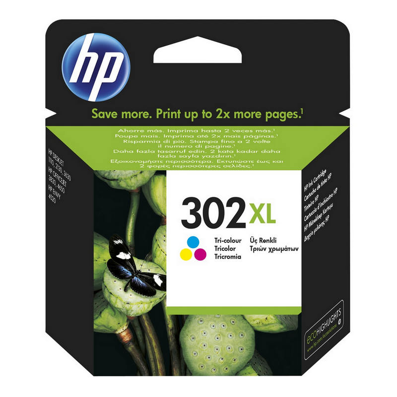 HP 302XL Cartucho Tinta Alta Capacidad Original Tricolor