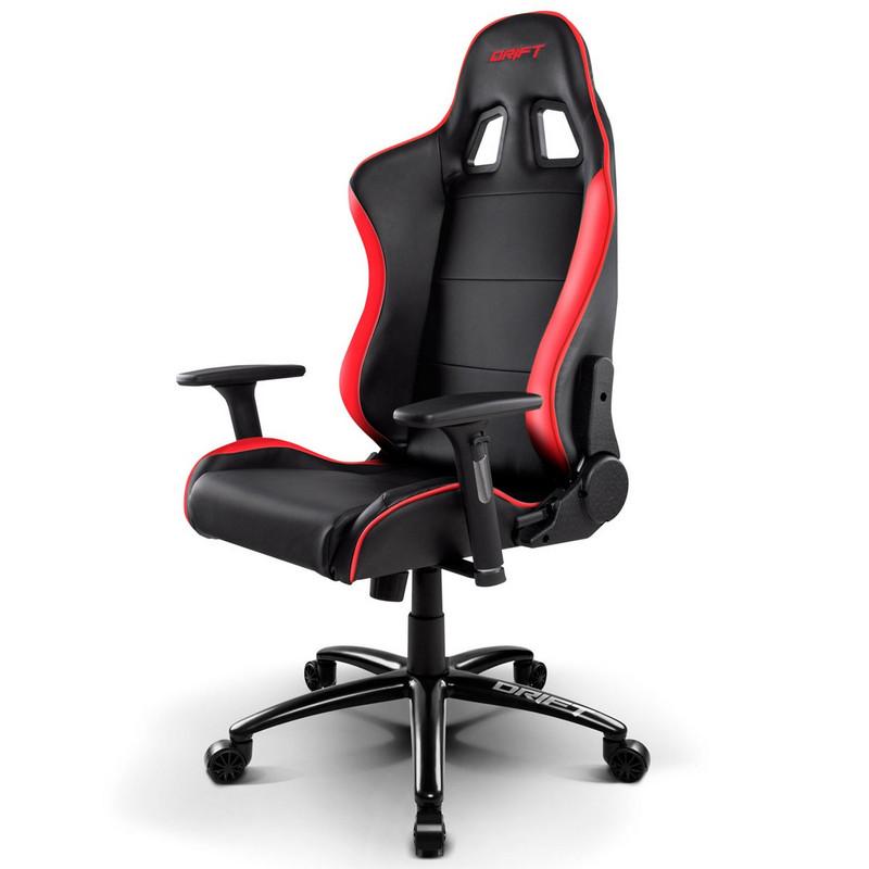Drift dr200 silla gaming negra roja for Silla oficina gaming