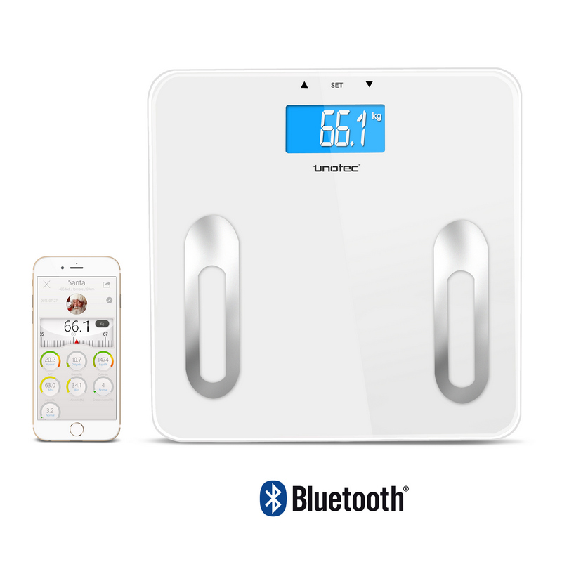 Basculas De Baño Digitales | Unotec Xcale Bascula De Bano Bluetooth Pccomponentes