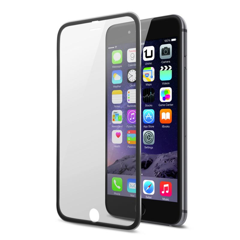3577b97fa32 Protector de Pantalla Cristal Templado Edge Negro para iPhone 6 Plus ...