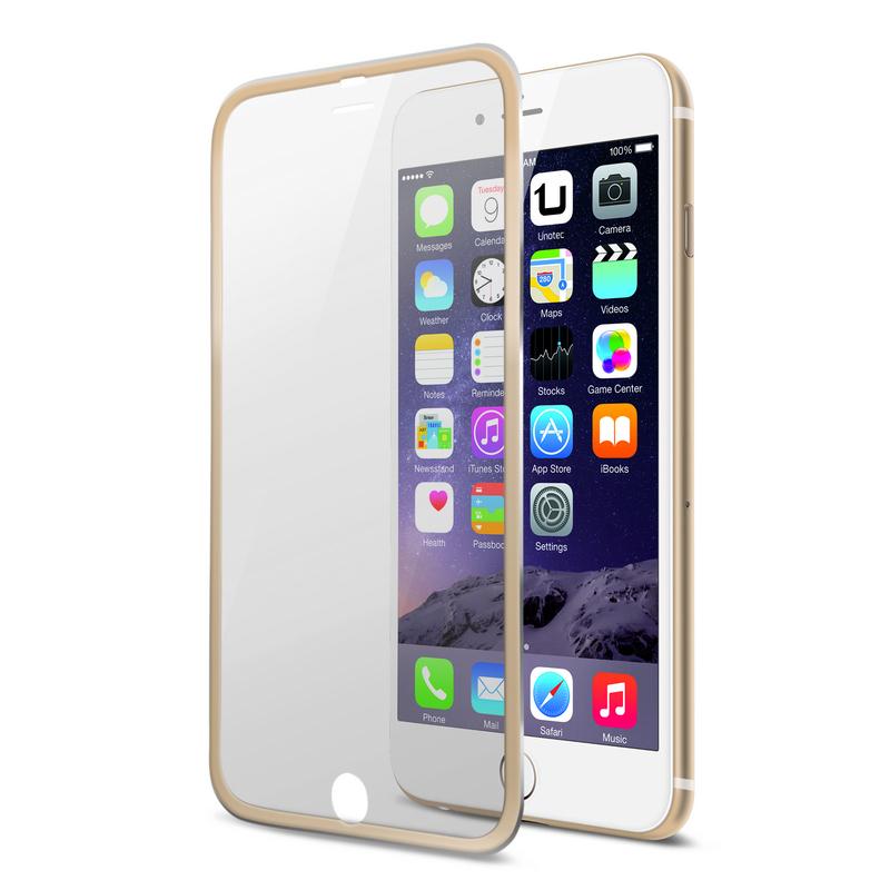 922b7c63350 Protector de Pantalla Cristal Templado Edge Dorado para iPhone 6 Plus
