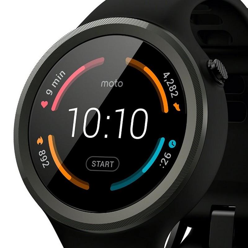 Motorola Moto 360 Sport Smartwatch Negro |PcComponentes