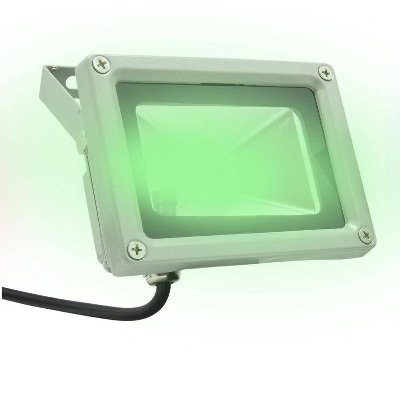 Foco led exterior rgb con mando 10w for Foco led exterior 10w