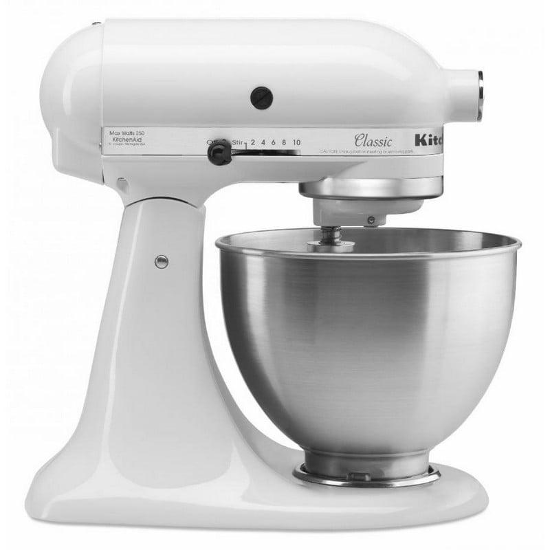 KitchenAid 5K45SS EWH Robot Classic Amasadora 4.28 L Blanco
