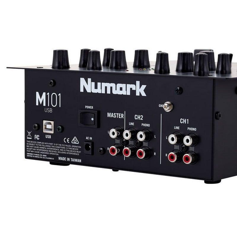 Numark m101 usb mesa de mezclas dj 2 canales pccomponentes for Mesa de mezclas para pc