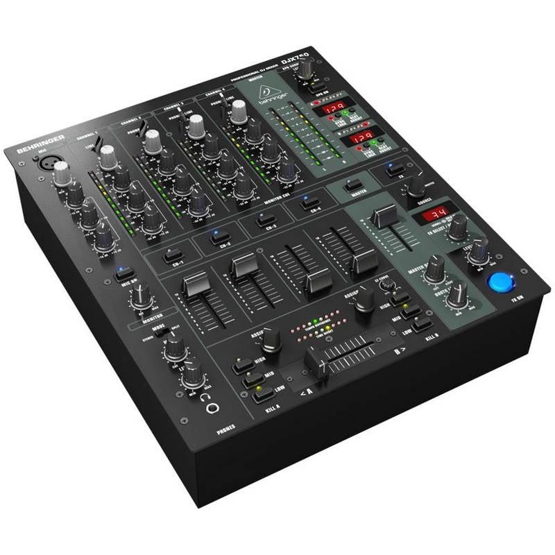 Behringer djx750 mesa de mezclas dj 4 canales pccomponentes for Mesa de mezclas fonestar
