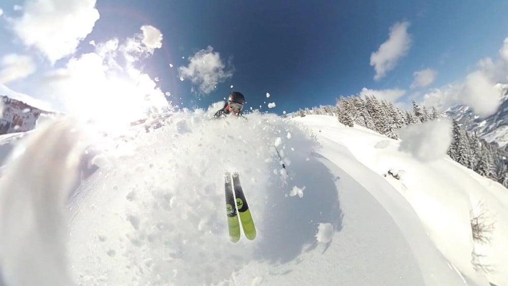 fotos con cámaras deportivas en la nieve